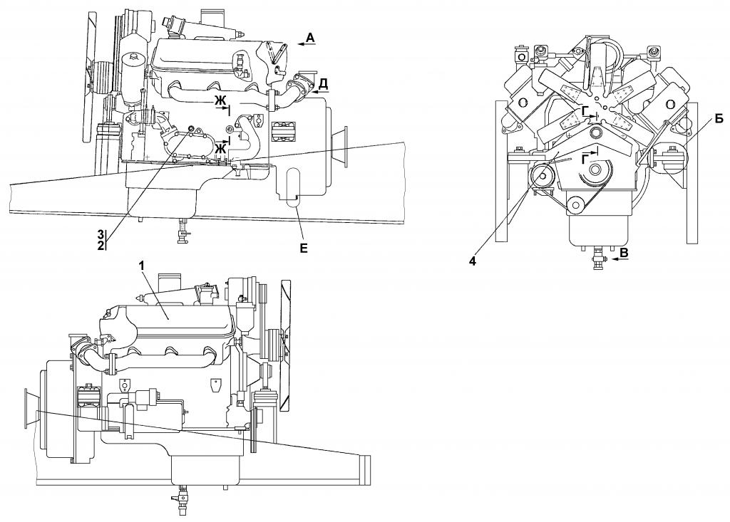 1102-01-1СП Установка двигателя ЯМЗ-236 | Каталог ЧЕТРА Т-11.01Я1, Т-11.01Я1М
