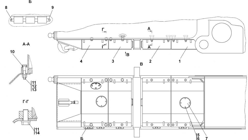 1101-64-3-01СП Установка кожухов | Каталог ЧЕТРА Т-11.01Я1, Т-11.01Я1М