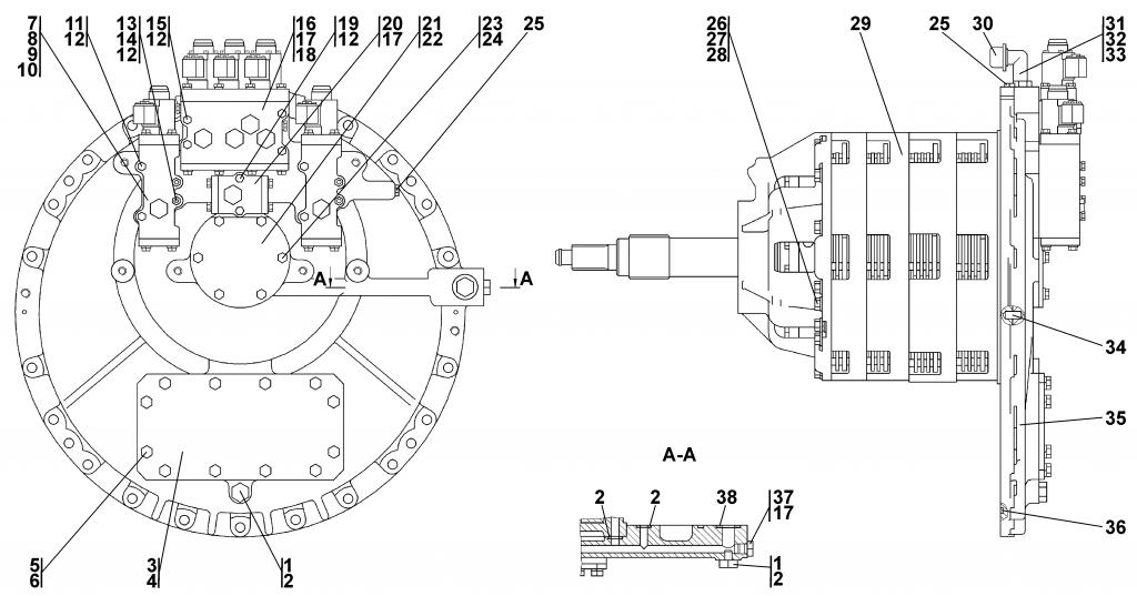 0901-12-11СП Коробка передач с системой гидроуправления | Каталог ЧЕТРА Т-11.01Я1, Т-11.01Я1М