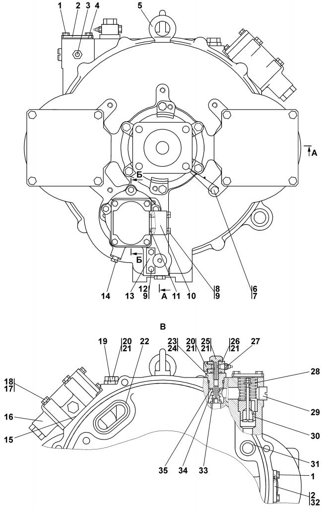 1101-14-2-01СП Гидротрансформатор с редуктором привода насосов | Каталог ЧЕТРА Т-11.01Я1, Т-11.01Я1М