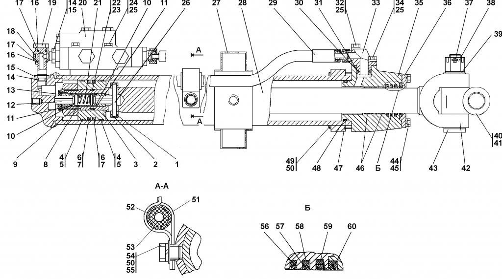 1101-26-708СП Гидроцилиндр D100 | Каталог ЧЕТРА Т-11.01Я1, Т-11.01Я1М