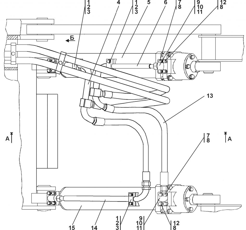 011101-97-508СП Гидросистема рыхлительного оборудования | Каталог ЧЕТРА Т-11.01Я1, Т-11.01Я1М