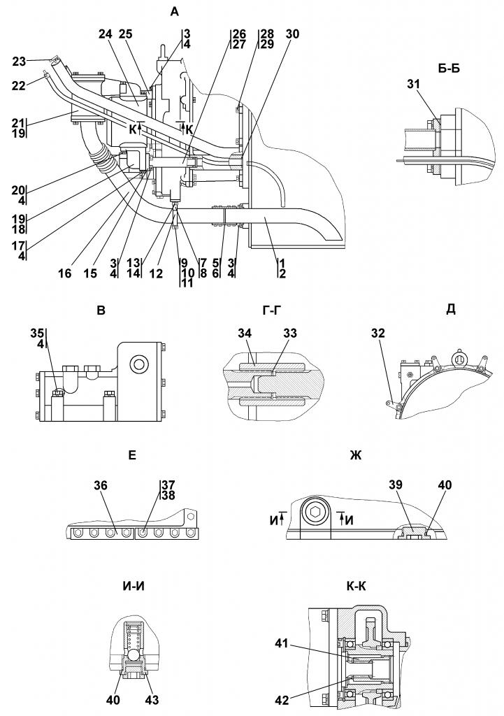 1101-16-2-04CП Установка трансмиссии | Каталог ЧЕТРА Т-11.01Я1, Т-11.01Я1М