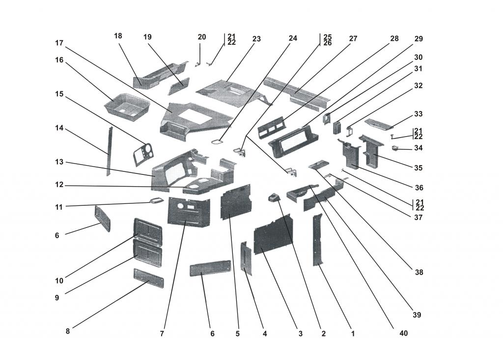 1101-89-5МК/6МК Машинокомплект деталей и сборочных единиц интерьера кабины «Четра» | Каталог ЧЕТРА Т-11.01Я1, Т-11.01Я1М