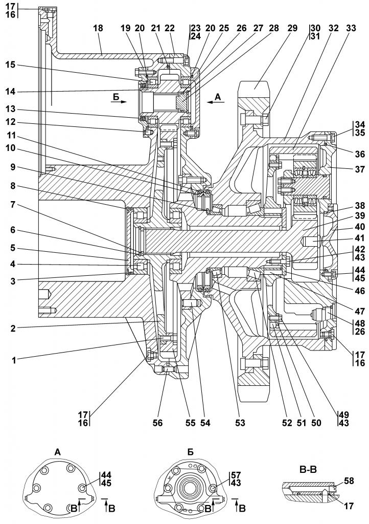 1112-19-10СП Передача бортовая | Каталог ЧЕТРА Т-11.01Я1, Т-11.01Я1М