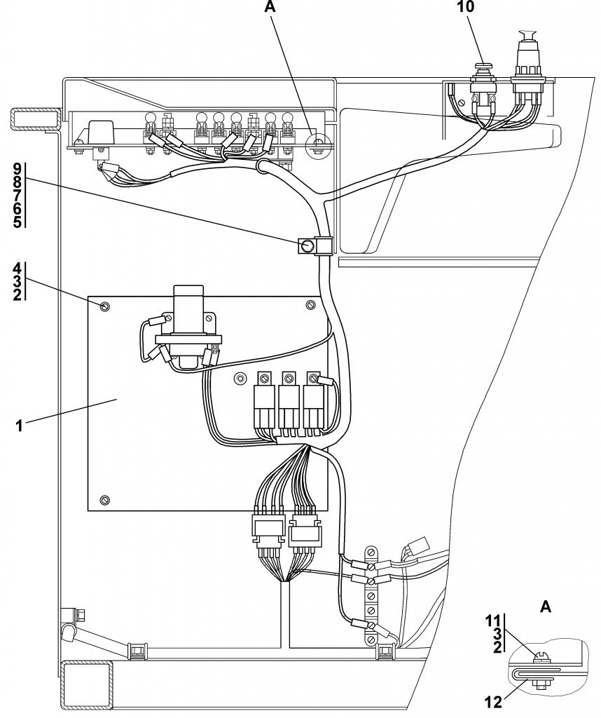 1102-10-156СБ Установка блока выключателей | Каталог ЧЕТРА Т-11.01Я1, Т-11.01Я1М