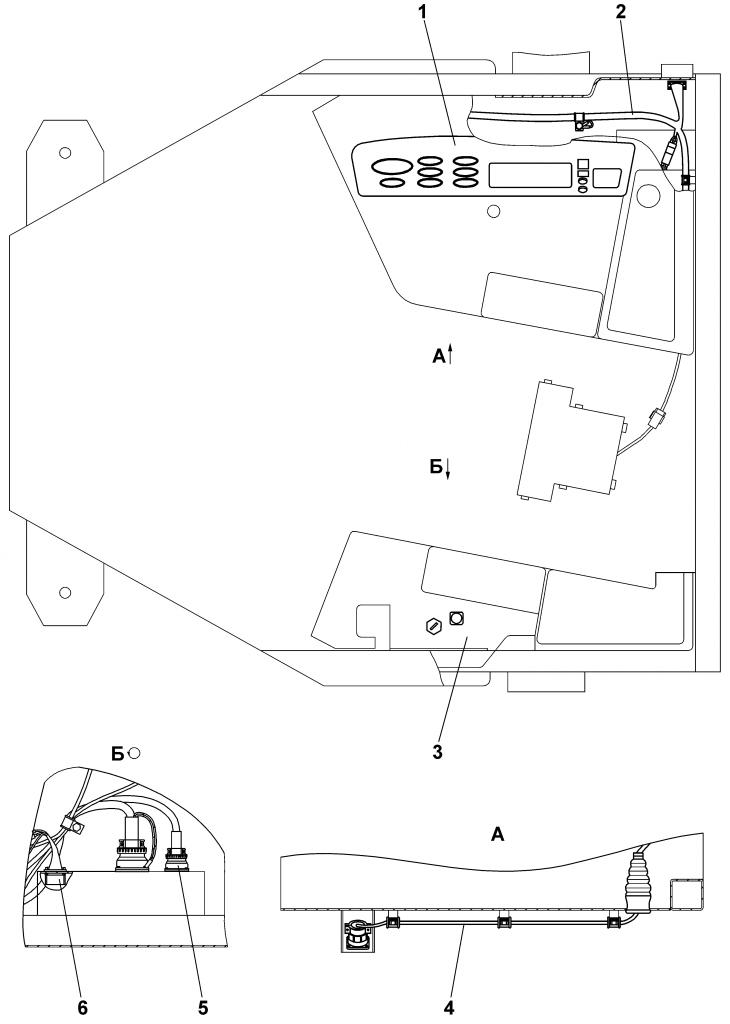 1102-10-18-01СБ Электрооборудование пола кабины | Каталог ЧЕТРА Т-11.01Я1, Т-11.01Я1М