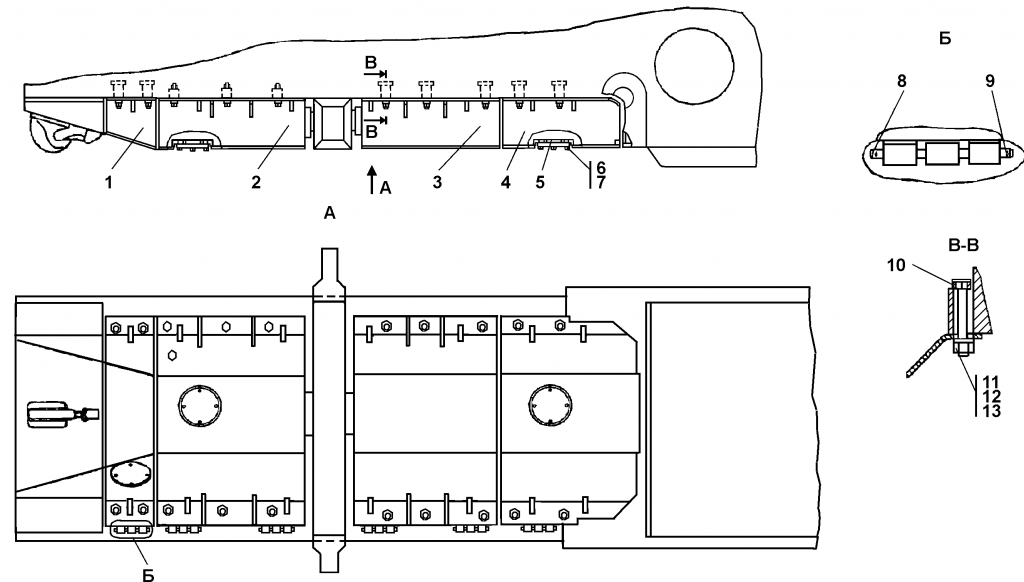 1501-64-1СБ Установка кожухов | Каталог ЧЕТРА Т-15.01Я, Т-15.01ЯМ
