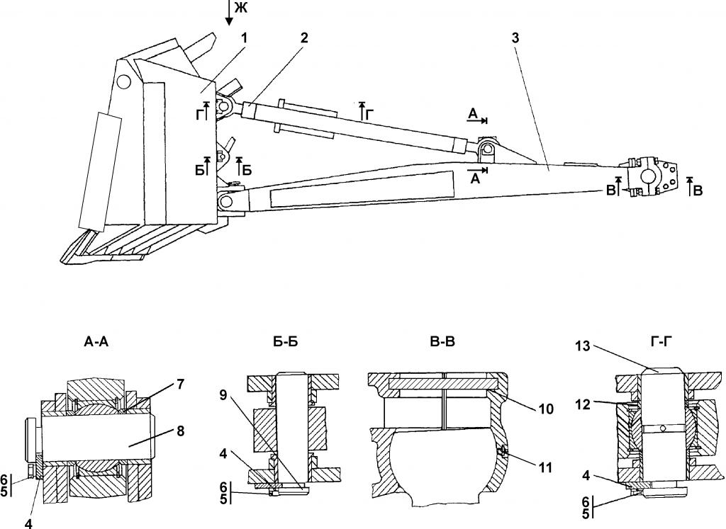 3501-92-1CП Оборудование бульдозерное - Каталог ЧЕТРА Т 35.01, ЧЕТРА Т 35, Т 3501, ЧЕТРА Т35