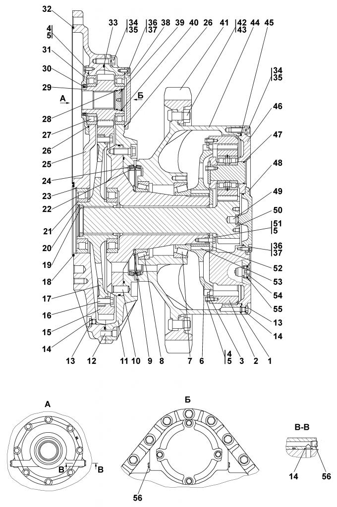 2501-19-11СП Передача бортовая - Каталог ЧЕТРА Т 25.01, ЧЕТРА Т 25, Т 2501, ЧЕТРА Т25