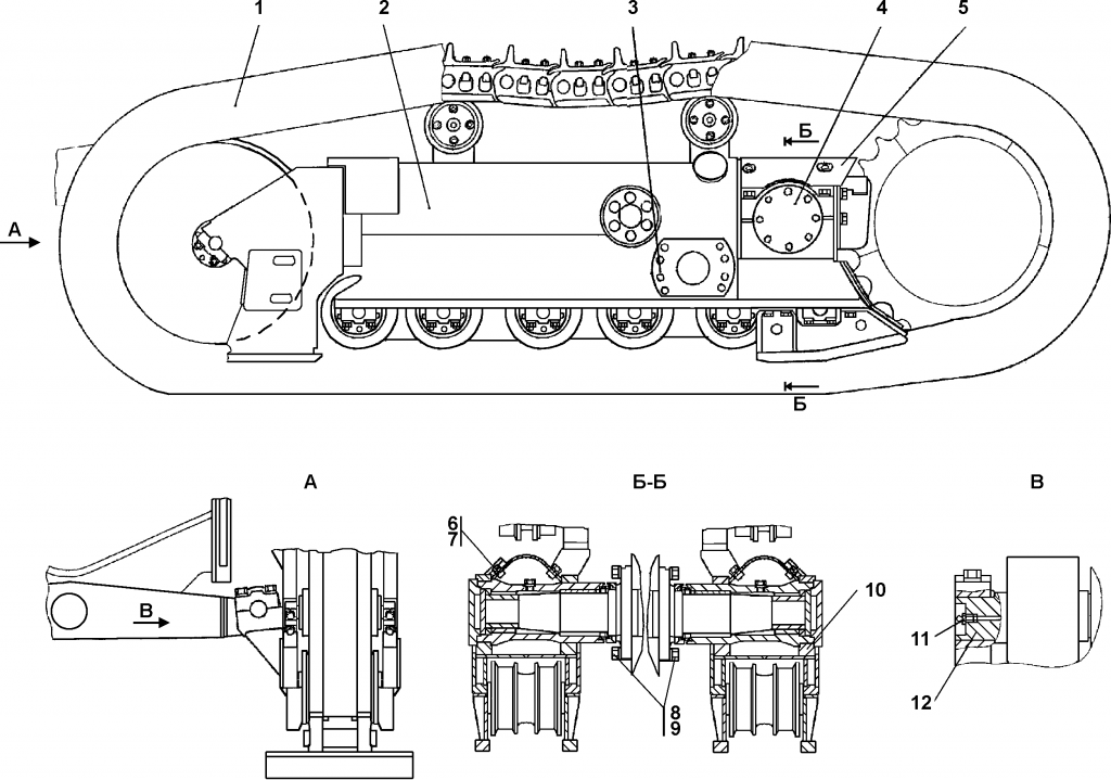1101-21-1СП Система ходовая | Каталог ЧЕТРА Т-11.01Я1, Т-11.01Я1М