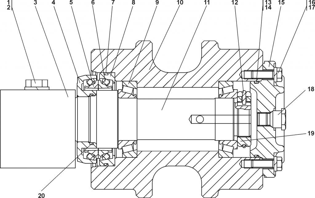 1101-21-10СП Каток поддерживающий | Каталог ЧЕТРА Т-11.01Я1, Т-11.01Я1М