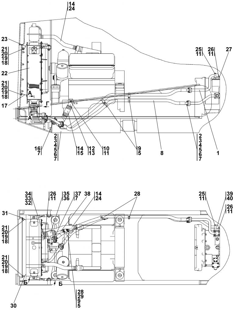 1102-60-3СП Система охлаждения | Каталог ЧЕТРА Т-11.01Я1, Т-11.01Я1М