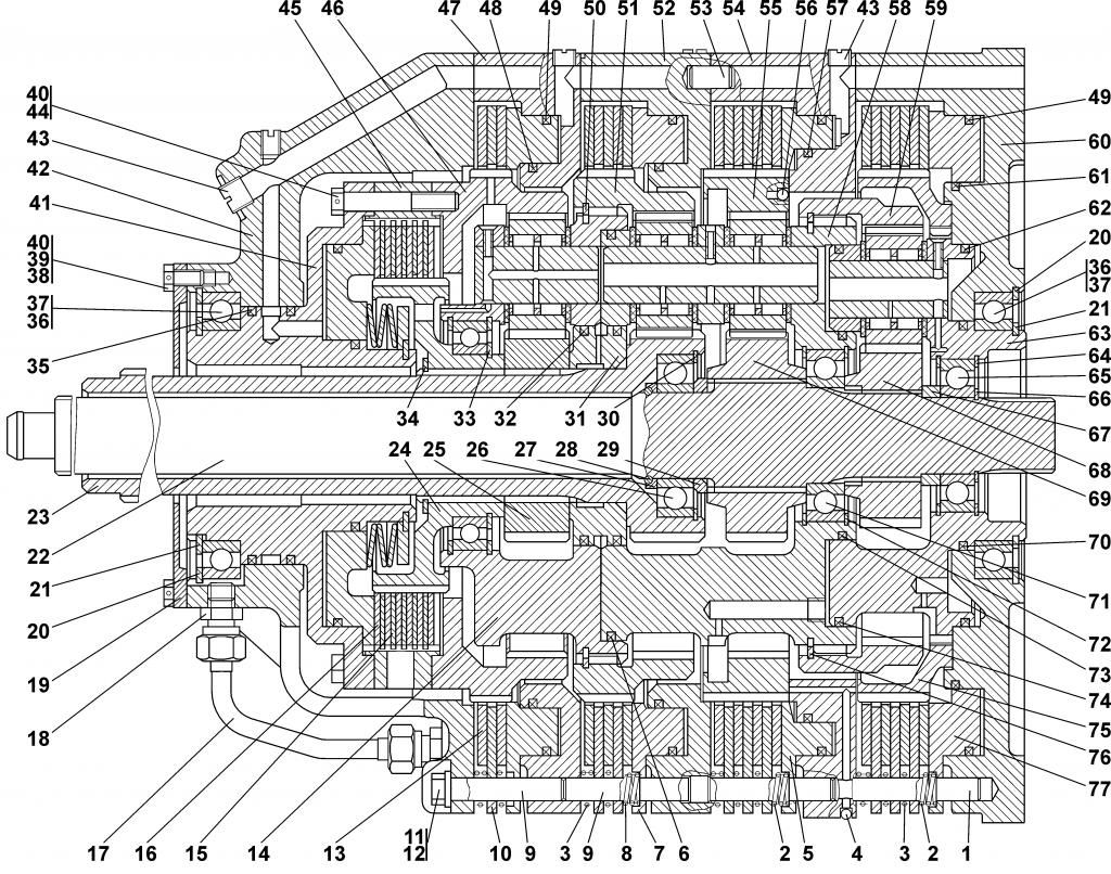 Поз.№58 - 1101-12-105СП Водило - 0901-12-10СП-Коробка-передач-планетарная | Каталог ЧЕТРА Т-11.01Я1, Т-11.01Я1М