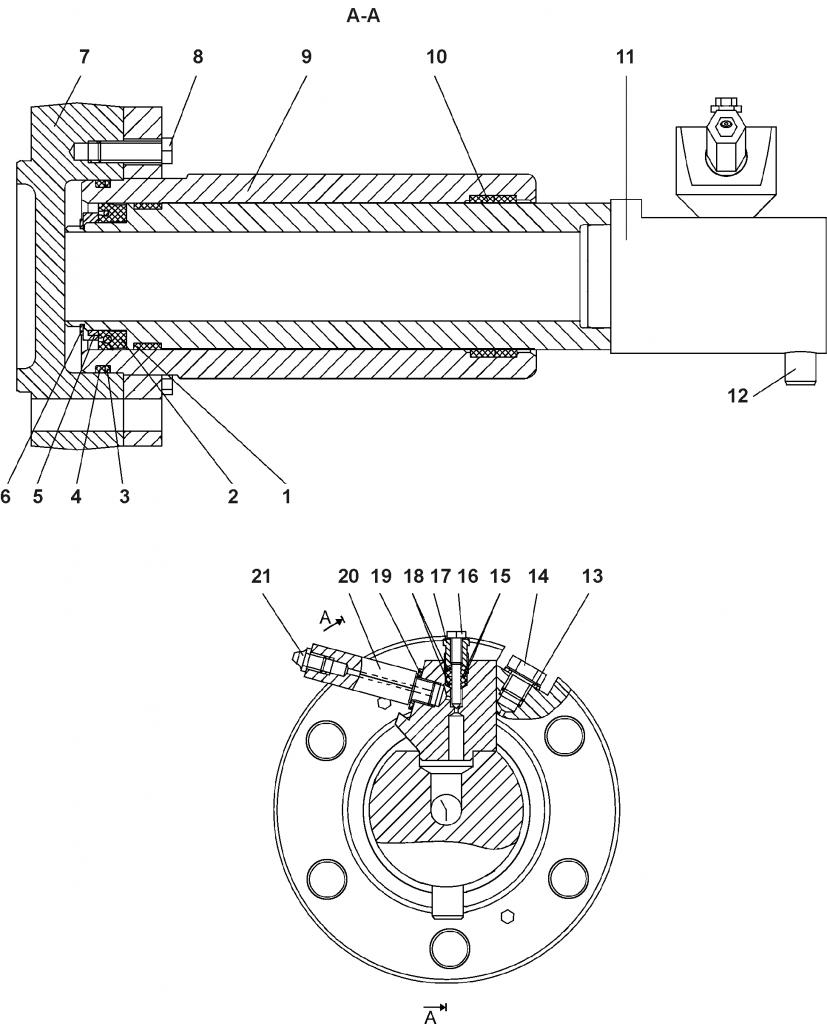 1101-21-43СП Механизм натяжения | Каталог ЧЕТРА Т-11.01Я1, Т-11.01Я1М