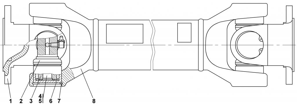 1101-49-1 Вал карданный | Каталог ЧЕТРА Т-11.01Я1, Т-11.01Я1М
