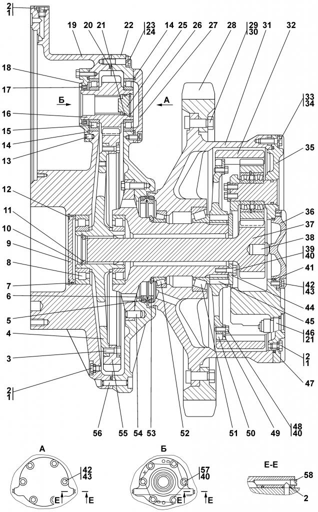 1101-19-11СП Передача бортовая | Каталог ЧЕТРА Т-11.01Я1, Т-11.01Я1М