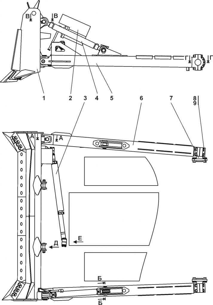 011101-93-3СП Оборудование бульдозерное полусферическое | Каталог ЧЕТРА Т-11.01Я1, Т-11.01Я1М