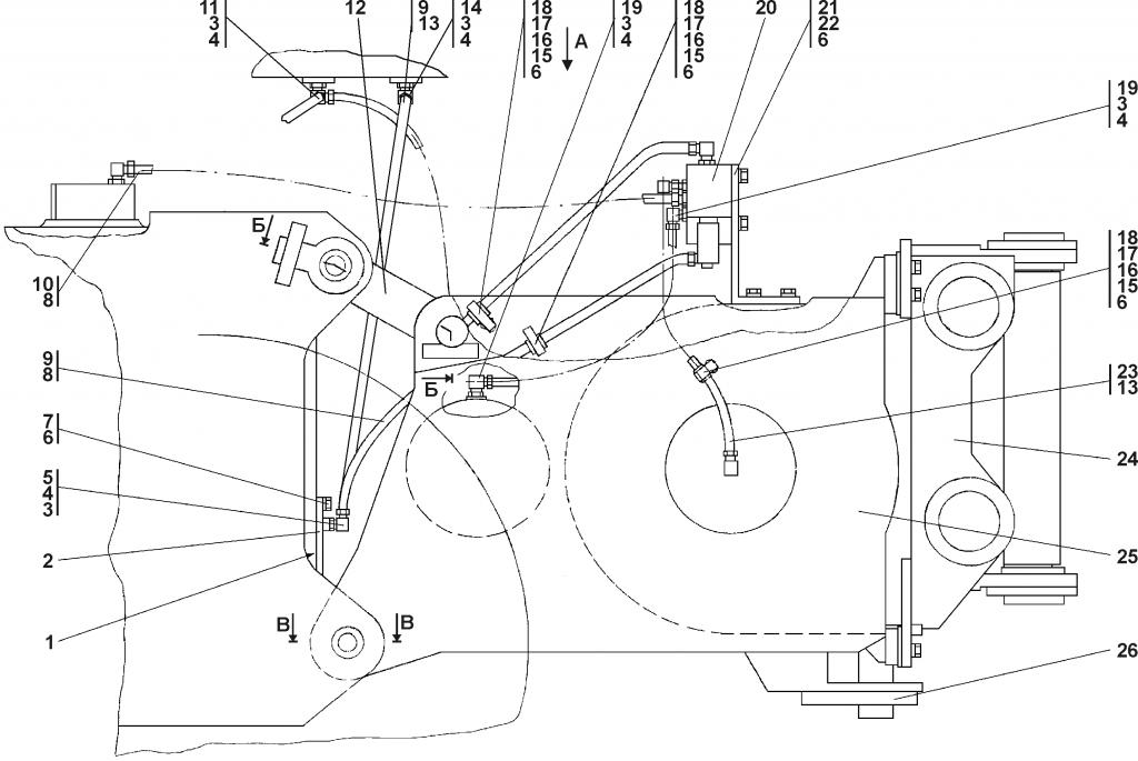 0901-96-1СП Агрегат тяговый | Каталог ЧЕТРА Т-11.01Я1, Т-11.01Я1М