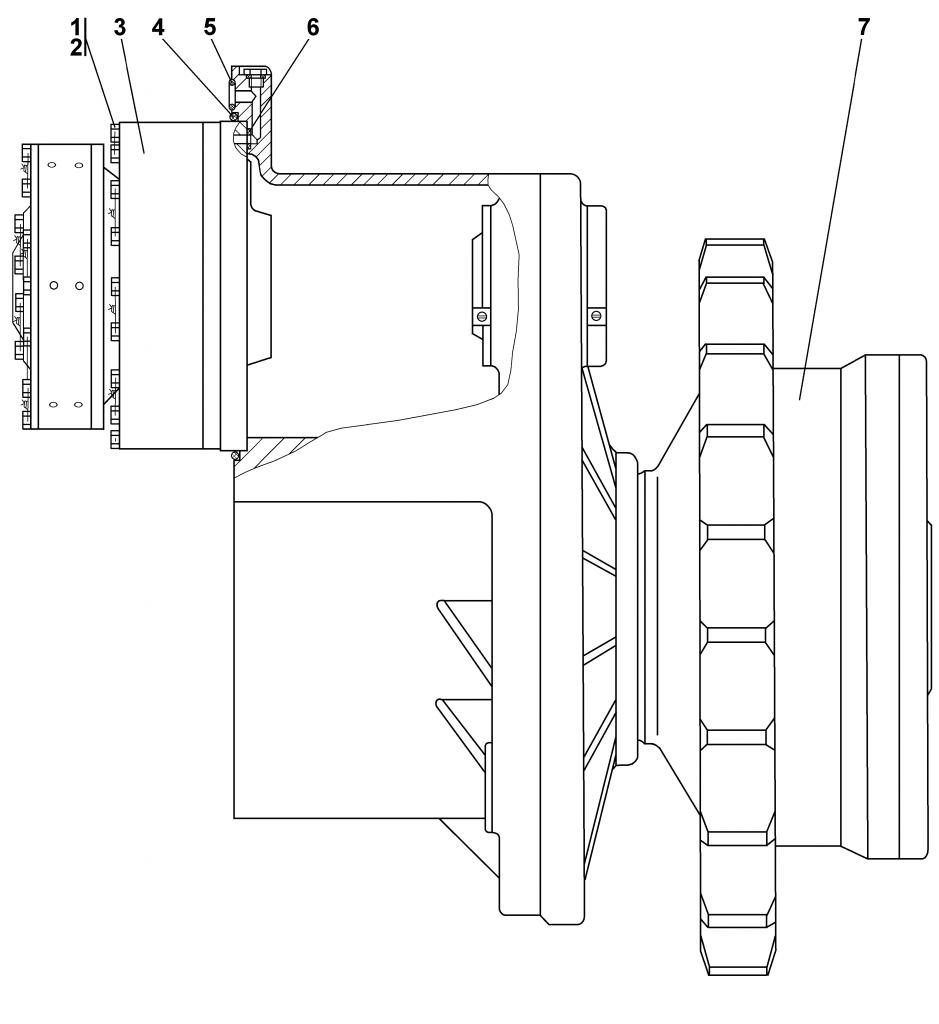 поз. № 3 — 1101-18-10СП Фрикцион бортовой и тормоз остановочный | 1112-19-1СП Передача бортовая, фрикцион и тормоз | Каталог ЧЕТРА Т-11.01Я1, Т-11.01Я1М