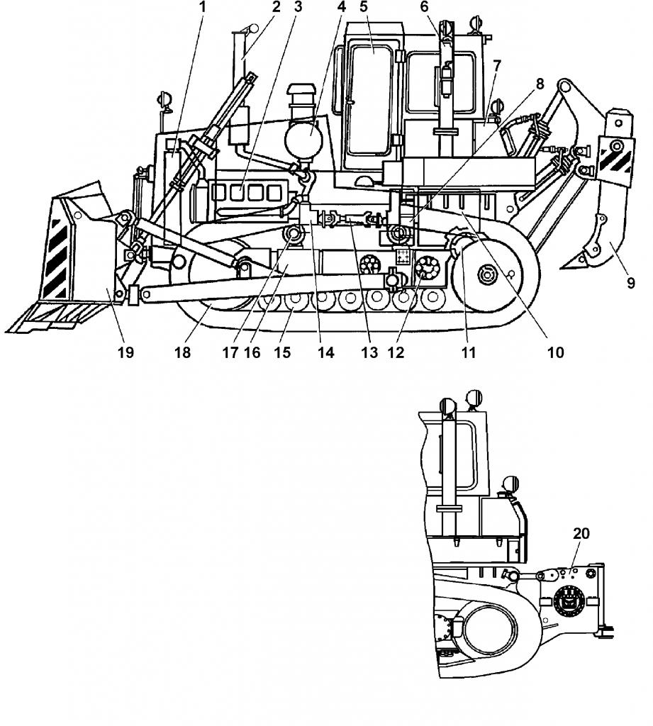 Общий вид трактора Т-15.01Я, Т-15.01ЯМ