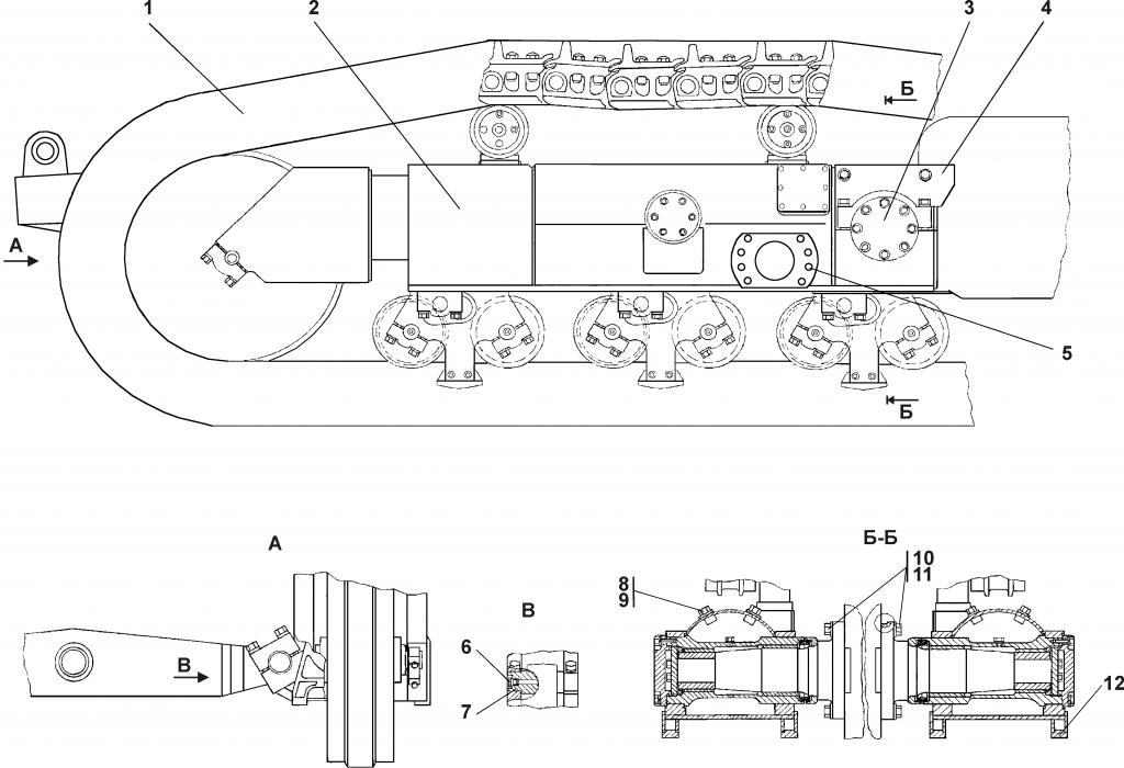 1501-21-1СБ Система ходовая   Каталог ЧЕТРА Т-15.01Я, Т-15.01ЯМ