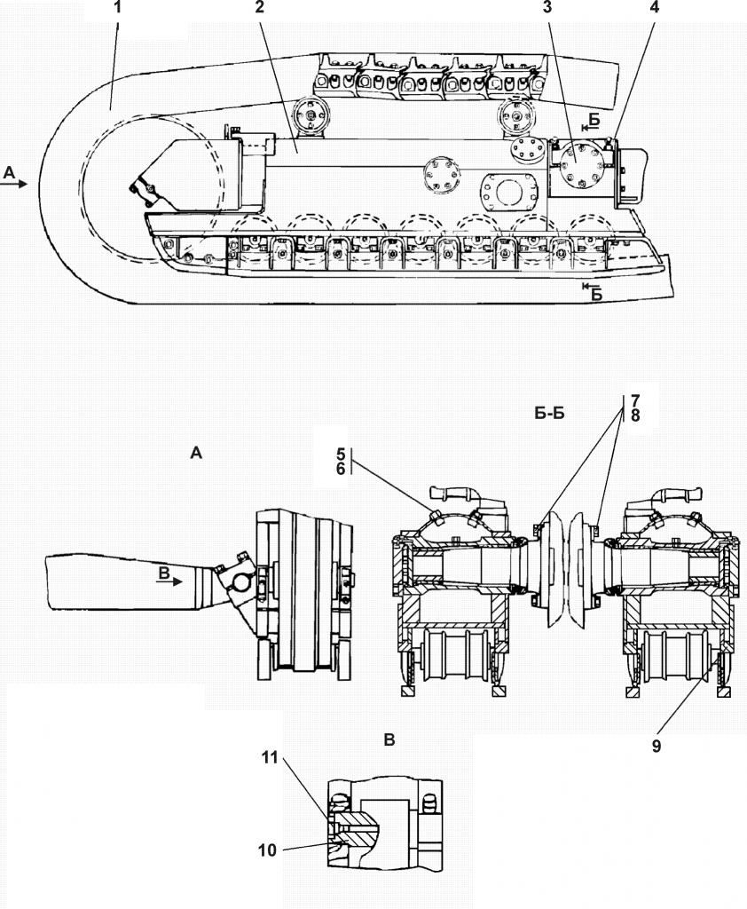 1501-21-201СБ Система ходовая полужесткая |Каталог ЧЕТРА Т-15.01Я, Т-15.01ЯМ