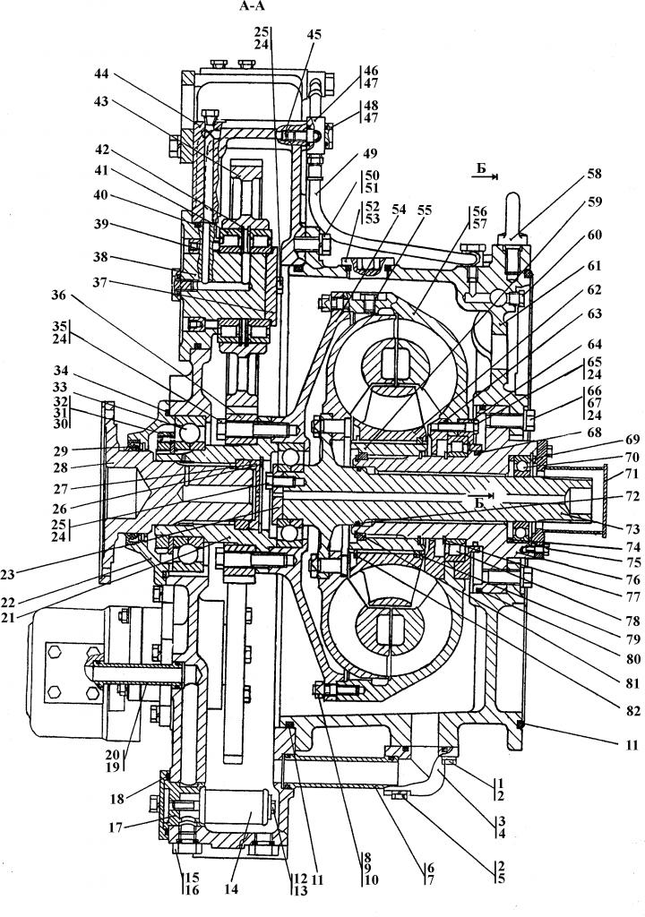2001-14-1СБ Гидротрансформатор с редуктором привода насосов - Каталог ЧЕТРА Т-15.01Я, Т-15.01ЯМ 1