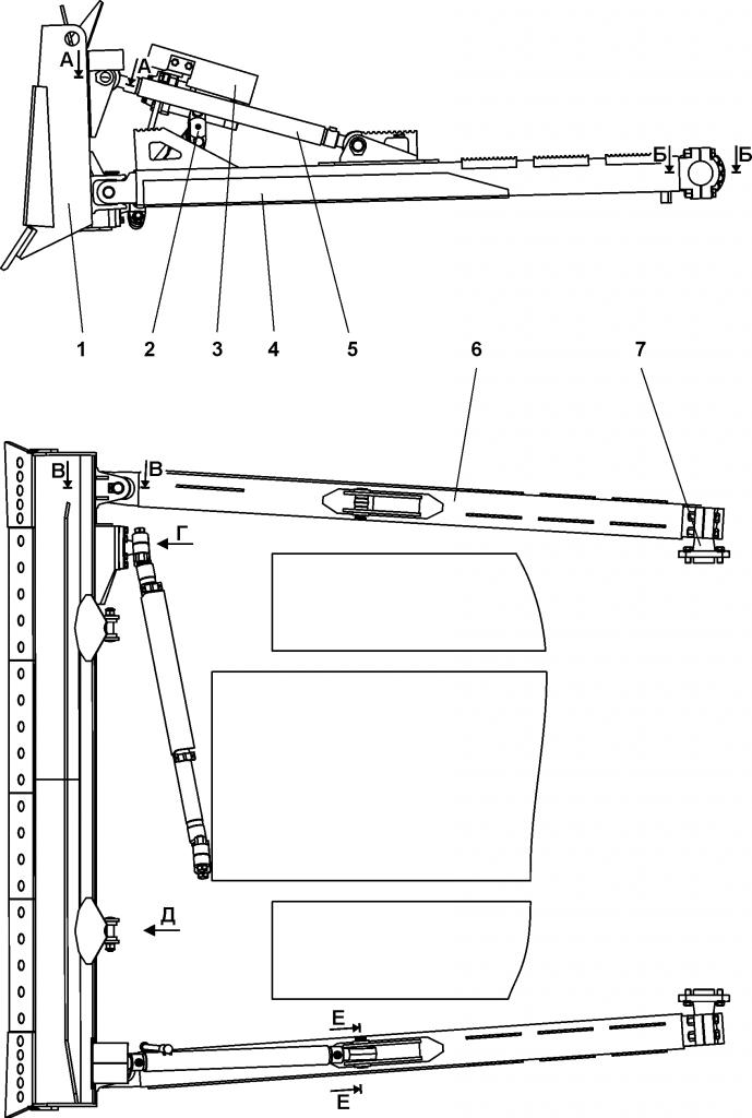 011501-91-3СБ Оборудование бульдозерное прямое - Каталог ЧЕТРА Т-15.01Я, Т-15.01ЯМ