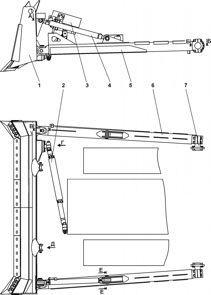 011501-93-3СБ Оборудование бульдозерное полусферическое - Каталог ЧЕТРА Т-15.01Я, Т-15.01ЯМ