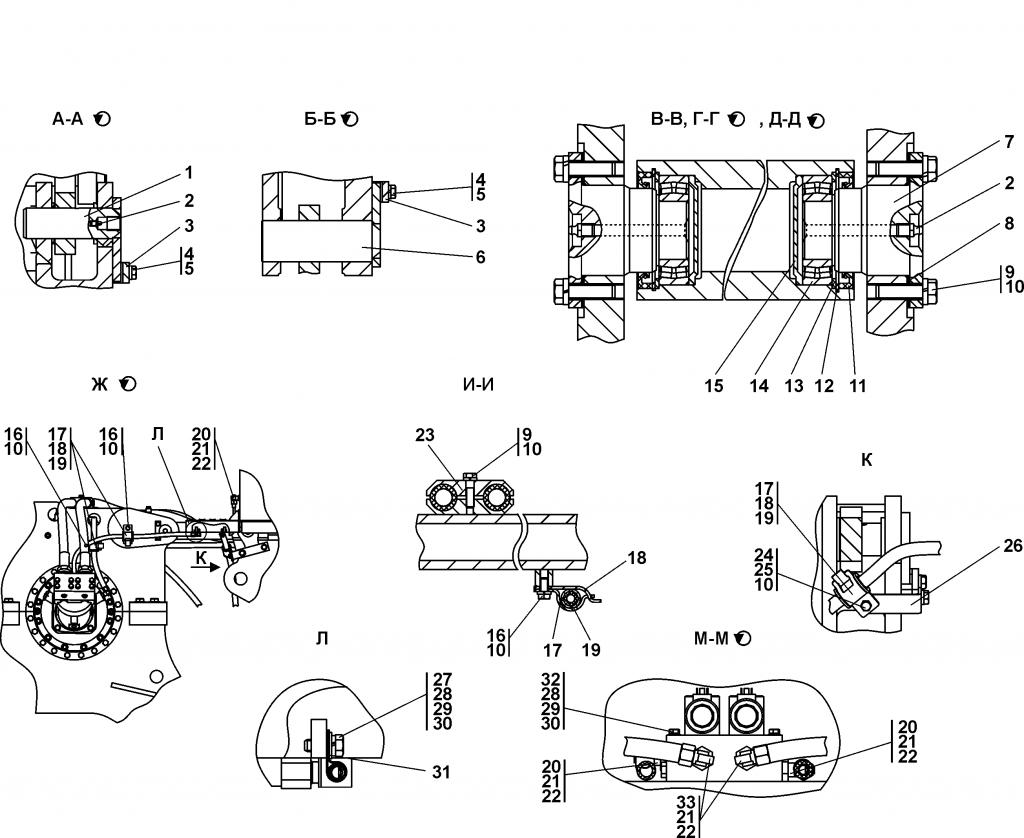1501-96-2СП Агрегат тяговый - Каталог ЧЕТРА Т-15.01Я, Т-15.01ЯМ