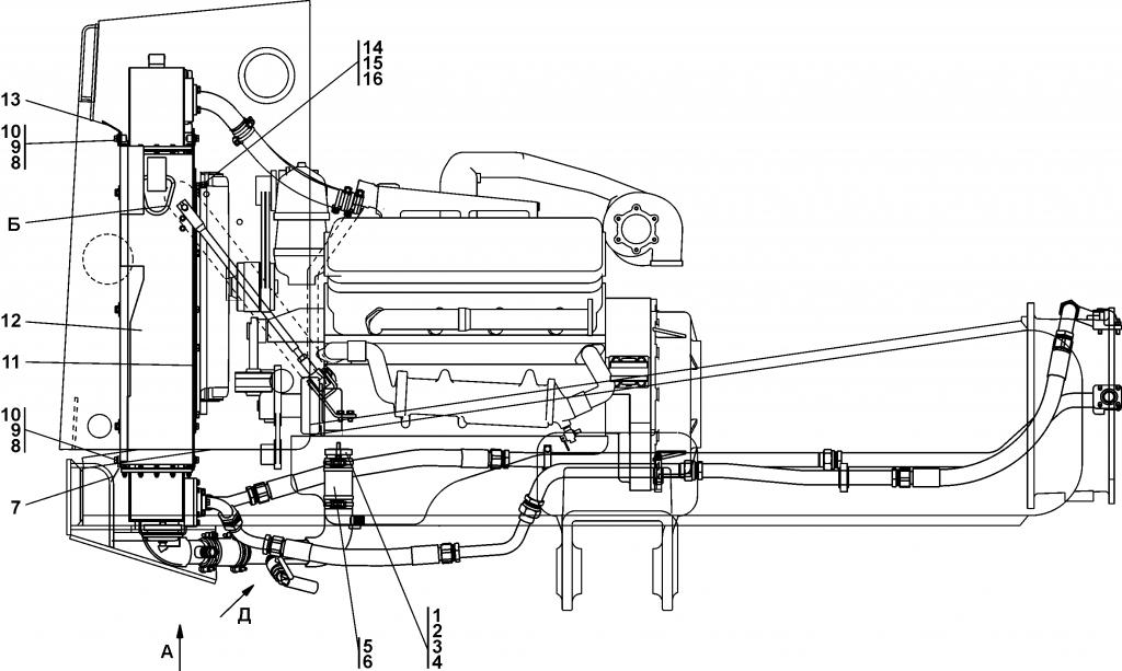 поз. № 2 - 450292 Прокладка | 2002-60-2-01СП Система охлаждения двигателя и трансмиссии | Каталог ЧЕТРА Т-15.01Я, Т-15.01ЯМ