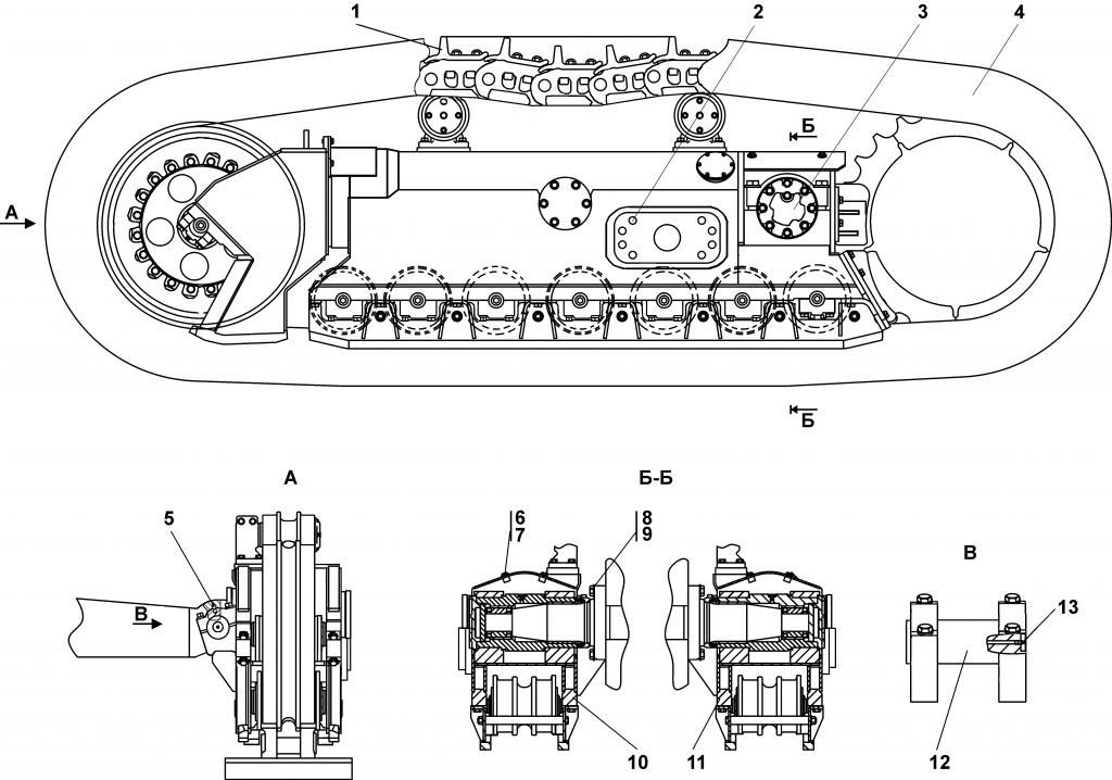 3501-21-101СП Система ходовая - Каталог ЧЕТРА Т 35.01, ЧЕТРА Т 35, Т 3501, ЧЕТРА Т35 1