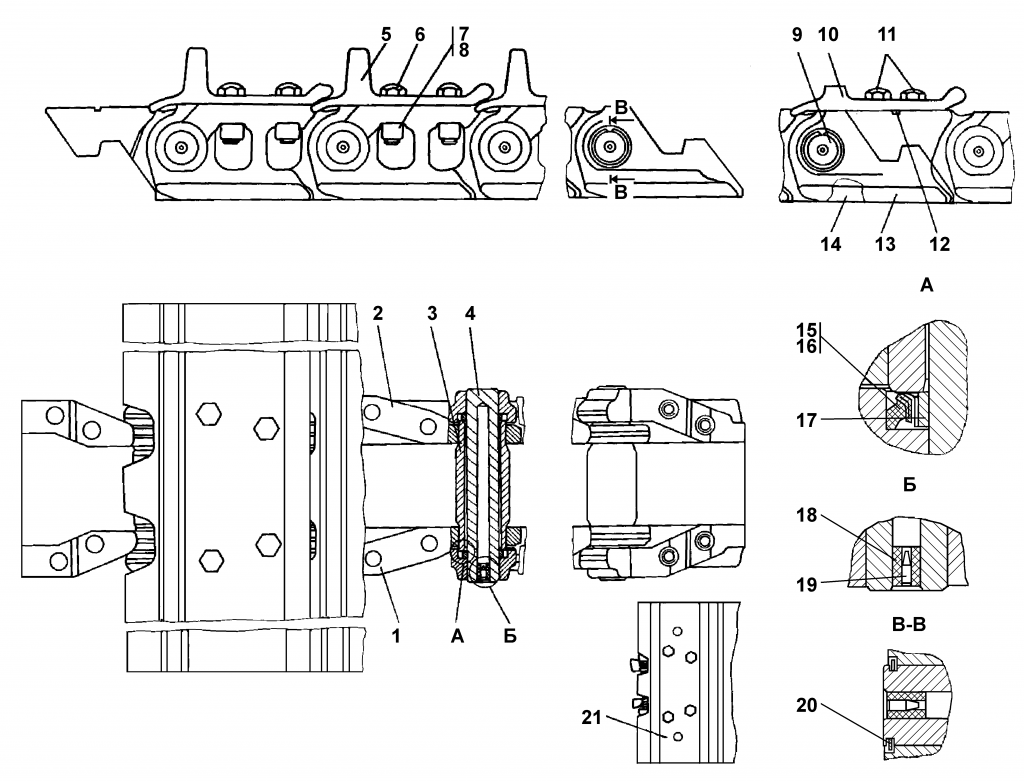 2501-22-1СП Гусеница - Каталог ЧЕТРА Т 25.01, ЧЕТРА Т 25, Т 2501, ЧЕТРА Т25