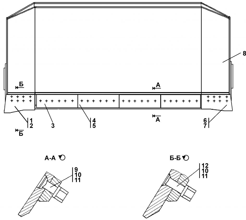 404-93-20СП Отвал - Каталог ЧЕТРА Т 35.01, ЧЕТРА Т 35, Т 3501, ЧЕТРА Т35