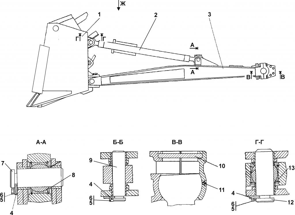 3501-93-1СП Оборудование бульдозерное - Каталог ЧЕТРА Т 35.01, ЧЕТРА Т 35, Т 3501, ЧЕТРА Т35