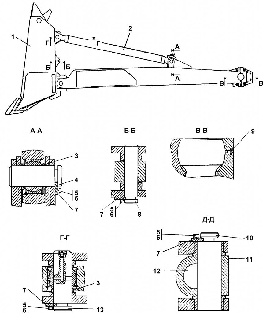 404-93-1СП Оборудование бульдозерное - Каталог ЧЕТРА Т 35.01, ЧЕТРА Т 35, Т 3501, ЧЕТРА Т35