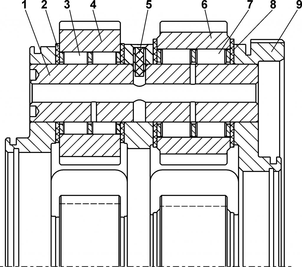 2501-12-153СП Водило - Каталог ЧЕТРА Т 35.01, ЧЕТРА Т 35, Т 3501, ЧЕТРА Т35