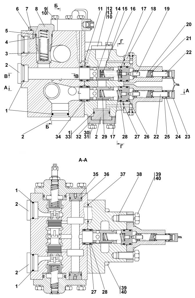 3501-26-61СП Распределитель - Каталог ЧЕТРА Т 35.01, ЧЕТРА Т 35, Т 3501, ЧЕТРА Т35