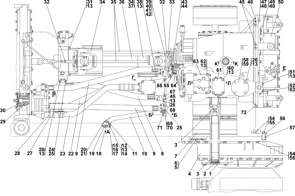 Поз. №63 - 1501-15-41СП Блок управления - 3501-16-1-02СП Установка трансмиссии - Каталог ЧЕТРА Т 35.01, ЧЕТРА Т 35, Т 3501, ЧЕТРА Т35