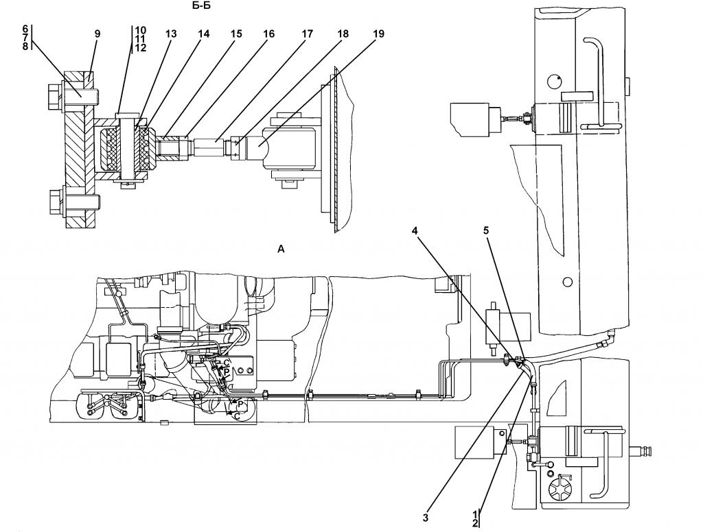3502-25-1СП Установка топливного бака - Каталог ЧЕТРА Т-35, Т-35.01Я, Т-35.02К 1