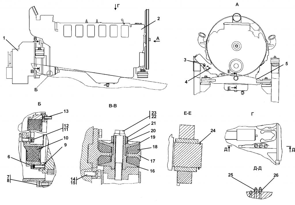 403-01-3-01СП Установка двигателя - Каталог ЧЕТРА Т-35, Т-35.01Я