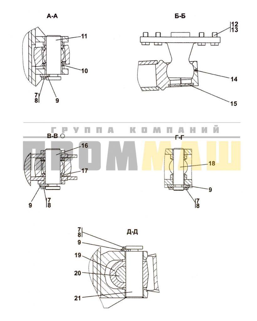 013516-92-1CП Оборудование бульдозерное сферическое - ЧЕТРА Т35, Т-35.01Я, Т-35.02К