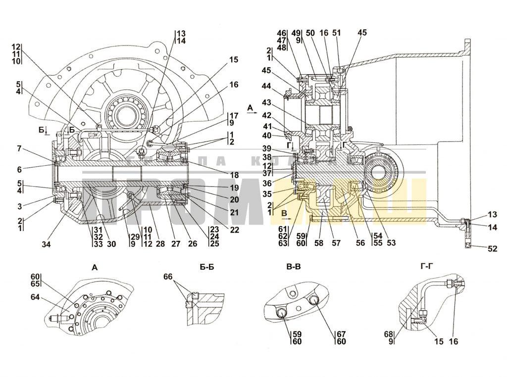 313512-12-12СП Передача главная ЧЕТРА Т35, Т-35.01Я, Т-35.02К