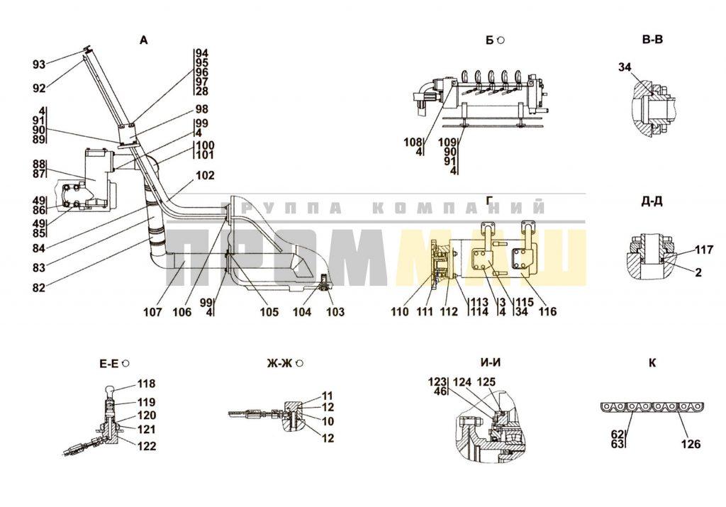 3516-16-1СП Установка трансмиссии ЧЕТРА Т35, Т-35.01Я, Т-35.02К