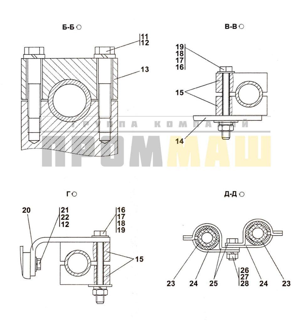 3516-98-500СП Гидросистема рыхлительного оборудования