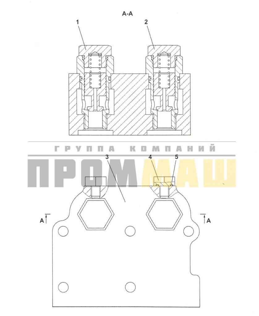 4001-15-7СП Клапан предохранительный ЧЕТРА Т35, Т-35.01Я, Т-35.02К