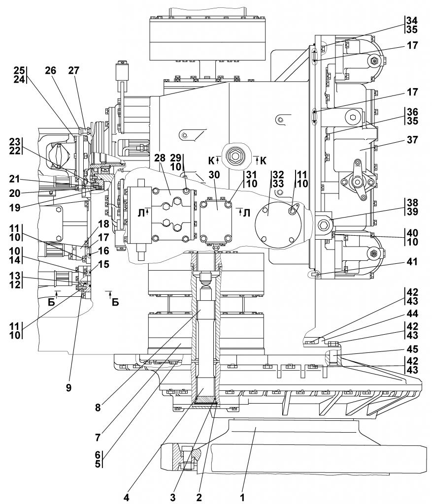 2501-16-1-03СП Установка трансмиссии - Каталог ЧЕТРА Т-35, Т-35.01Я, Т-35.02К