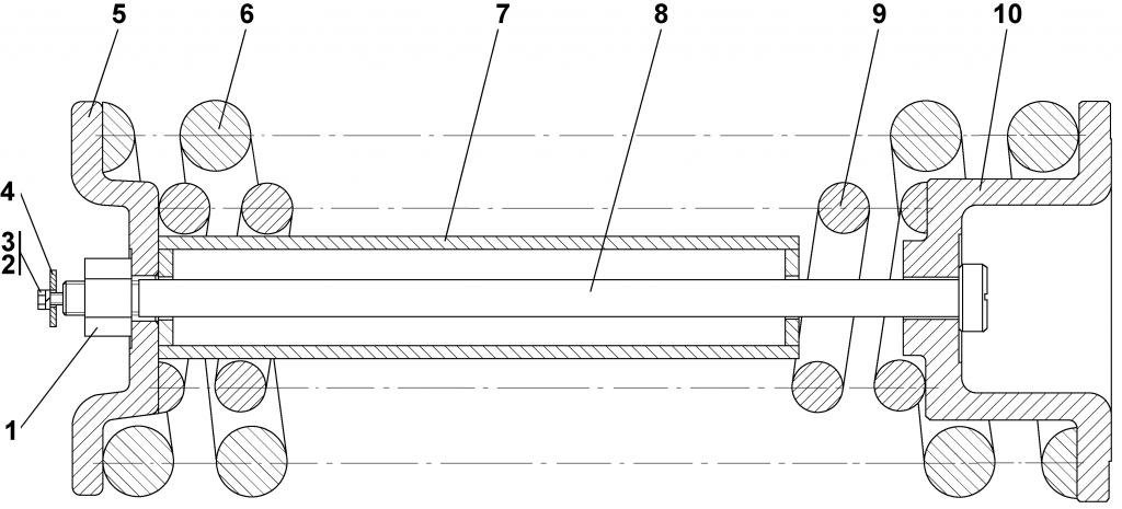2501-21-16СП Механизм сдавания - Каталог ЧЕТРА Т 25.01, ЧЕТРА Т 25, Т 2501, ЧЕТРА Т25 1