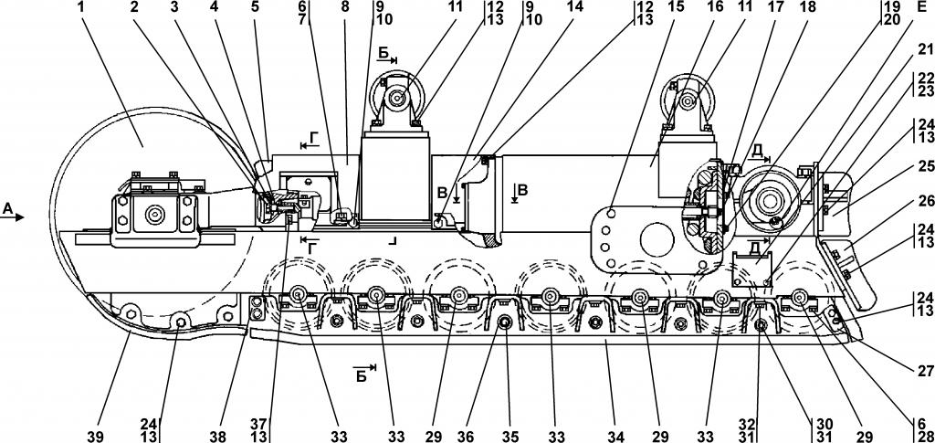 2501-21-3СП Тележка - Каталог ЧЕТРА Т 25.01, ЧЕТРА Т 25, Т 2501, ЧЕТРА Т25